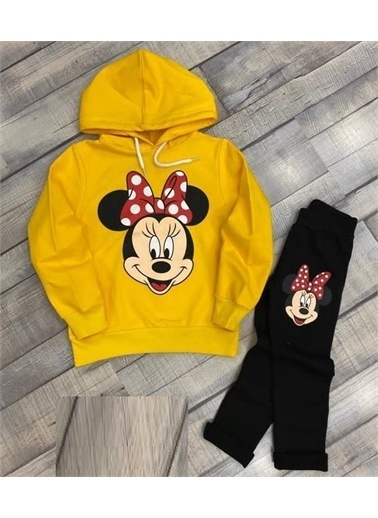Riccotarz Kız Çocuk Sevimli Minnie Mouse Sarı Taytlı Takım Renkli